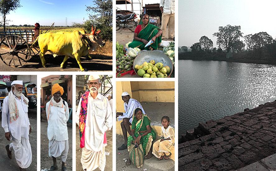 The Hariharatmak Lake and Villagers