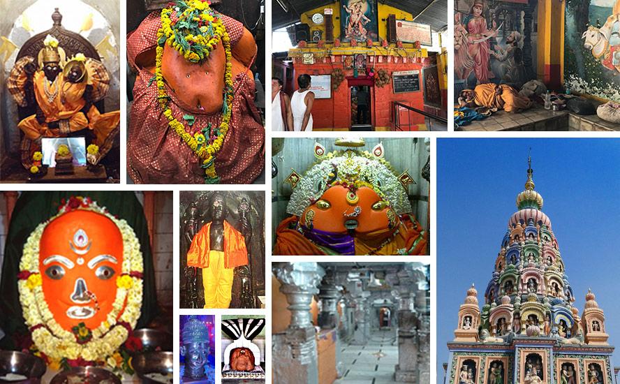 Sri Ganesha be-seated as a wrestler and Ambajogai- the area of Sri Yogeshwari Mata, Kaal ratri devi, Sanvalaram Temple, Sant Jagmitranaga, Bombalya Ganpati, Jhuralya Gopinath.