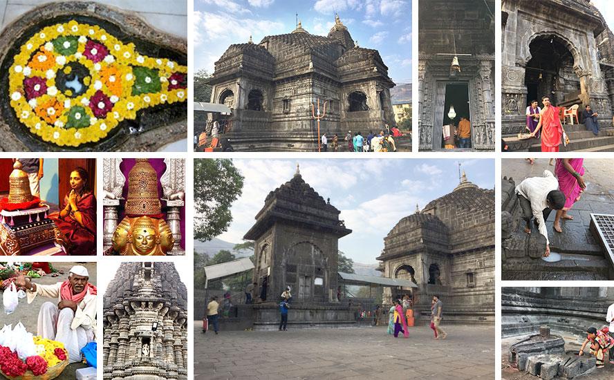 मकराना के संगमरमर और स्थानीय काले पाषाण के समुचित सम्मिश्रण से निर्मित श्री त्र्यंम्बकेश्वर मंदिर