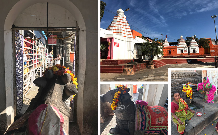 नंदीकेश्वर मंदिर और परिसर के अन्य मंदिर