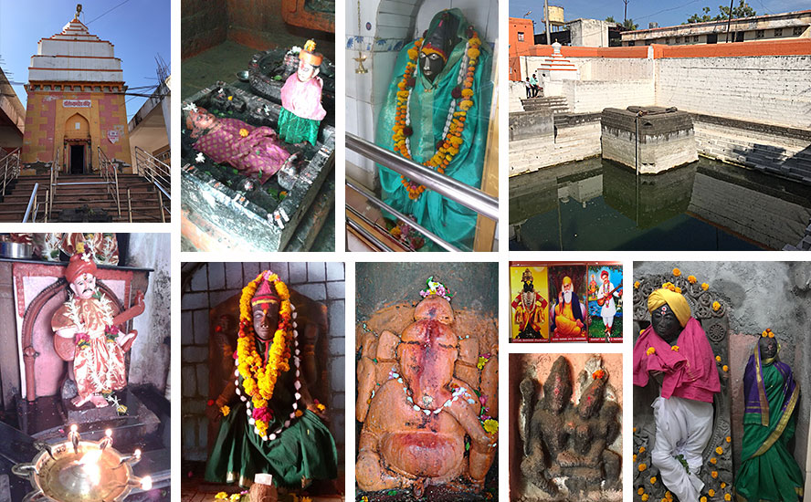 संत नामदेव मंदिर, देवी प्रतिमायें और सास बहु जल कुंड