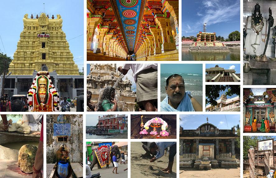 श्री रामेश्वरम मंदिर, राम लिंग, तीर्थ स्नान , कोटि तीर्थ , लक्ष्मण – राम तीर्थ, राम झरोखा- चरण चिन्ह, अग्नि तीर्थ , गंध मादन पर्वत, तृतीय प्राकारम विश्व विरासत, धनुषकोटि, श्री रवीन्द्र गंगाधर दशपुतरे पंडा जी