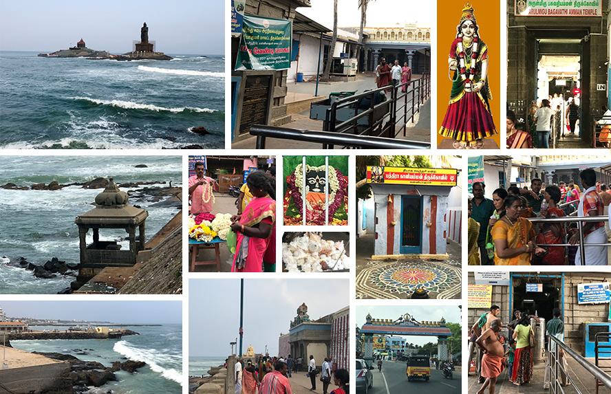 भारत के थल सीमान्त भूमि का प्रारम्भिक बिन्दु भी यही है अंत और आरम्भ का सापेक्ष दर्शन स्थल, कन्याकुमारी मंदिर, भद्र काली मंदिर, विवेकानंद धाम, तिरूवल्लुवर प्रतिमा